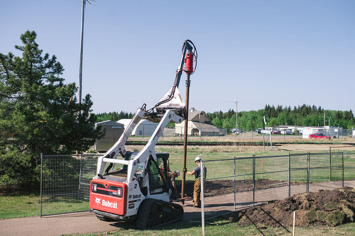 screw pile installation edmonton