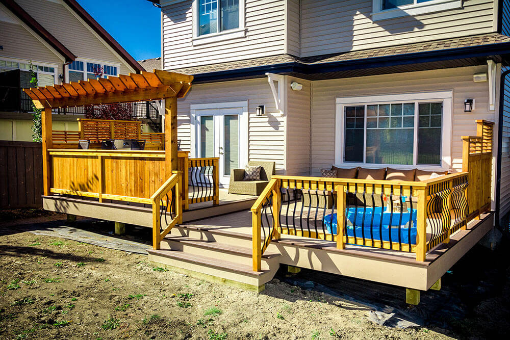 Finished deck in Calgary AB